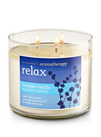 Aromatherapy Relax - Lavender Vanilla 3-Wick Candle - Bath And Body Works