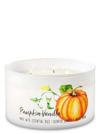 Pumpkin Vanilla 3-Wick Candle - Bath And Body Works
