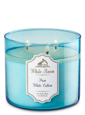 Pure White Cotton 3-Wick Candle - Bath And Body Works