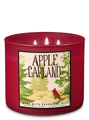 Apple Garland 3-Wick Candle - Bath And Body Works