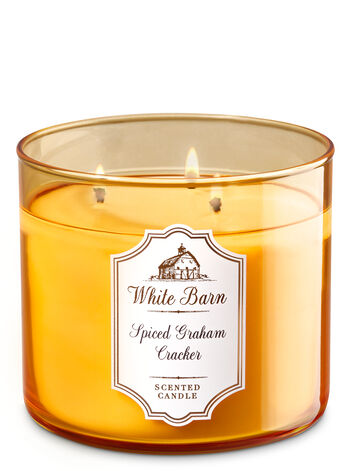 White Barn Spiced Graham Cracker 3-Wick Candle - Bath And Body Works