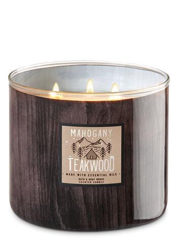 White Barn Mahogany Teakwood 3-Wick Candles - Bath And Body Works