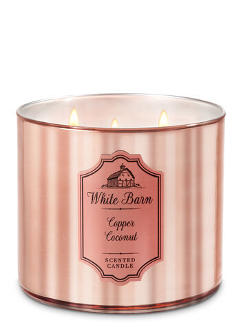 White Barn Copper Coconut 3-Wick Candle - Bath And Body Works