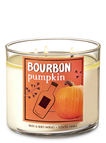 Bourbon Pumpkin 3-Wick Candle - Bath And Body Works