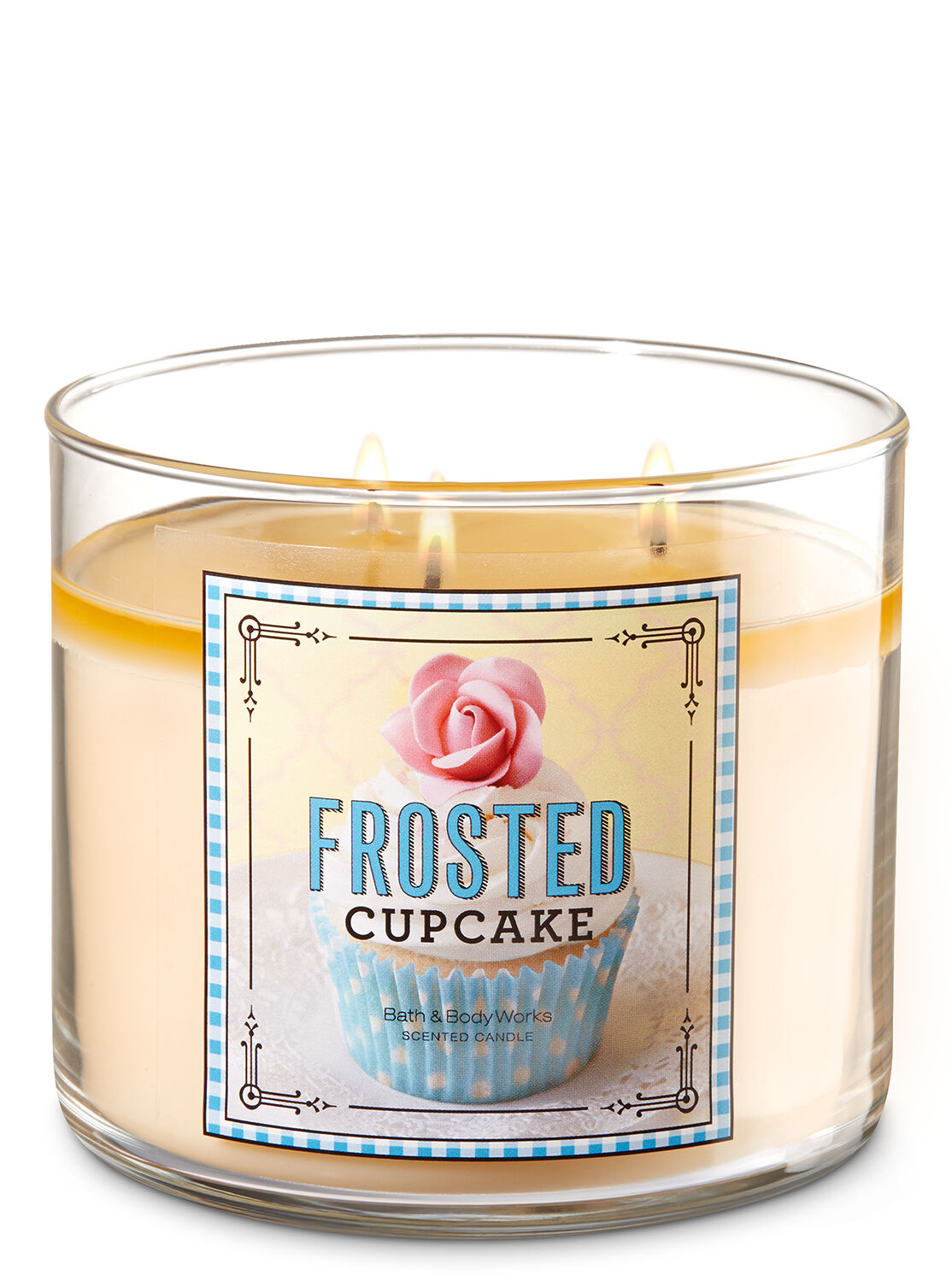 Frosted Cupcake 3 Wick Candles