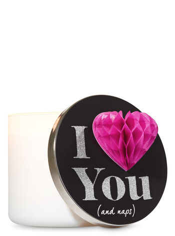 I Love You and Naps 3-Wick Candle Lid Magnet - Bath And Body Works