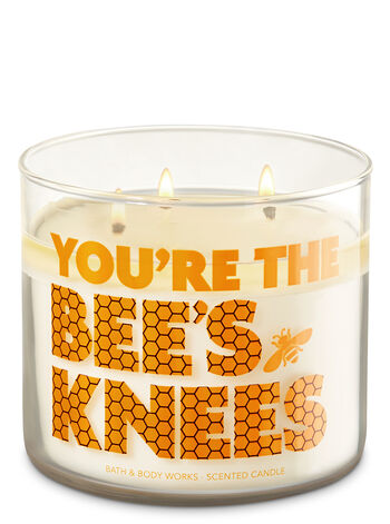Honey Vanilla 3-Wick Candle - Bath And Body Works