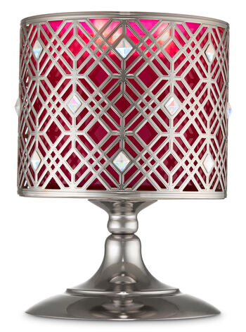 Geo Bling Pedestal 3-Wick Candle Holder - Bath And Body Works