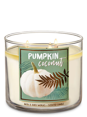 Pumpkin Coconut 3-Wick Candle - Bath And Body Works