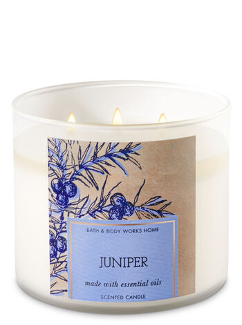 Juniper 3-Wick Candle - Bath And Body Works