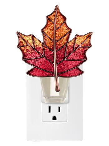 Glittering Maple Leaf Nightlight Wallflowers Fragrance Plug