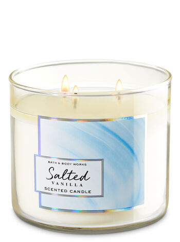 Salted Vanilla 3-Wick Candle - Bath And Body Works
