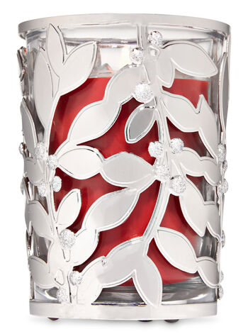 Glitter Holly Medium Candle Sleeve - Bath And Body Works