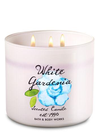White Gardenia 3-Wick Candle - Bath And Body Works