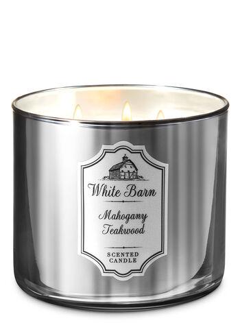 Mahogany Teakwood 3-Wick Candle