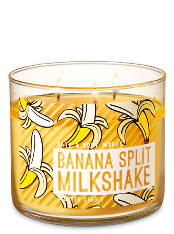 Banana Split Milkshake 3-Wick Candle - Bath And Body Works