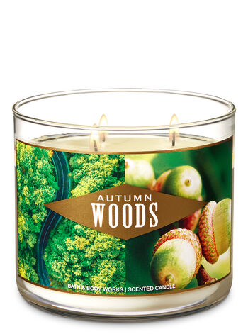 Autumn Woods 3-Wick Candle - Bath And Body Works