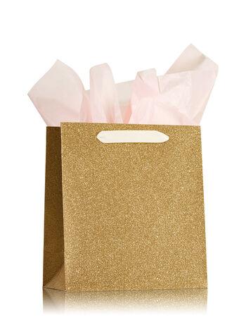 Gold Glitter Medium Gift Bag - Bath And Body Works