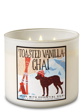 Toasted Vanilla Chai 3-Wick Candle - Bath And Body Works