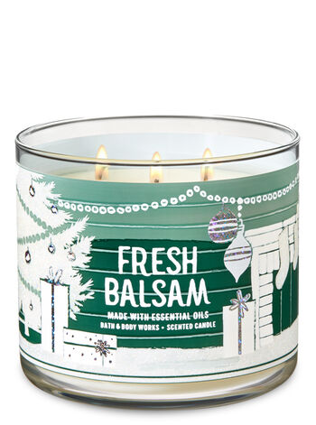 Exclusive! Fresh Balsam 3-Wick Candle - Bath And Body Works
