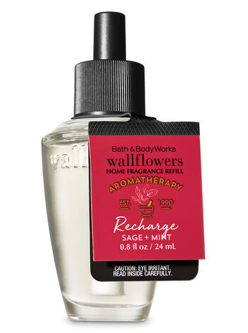 Aromatherapy Recharge - Sage & Mint Wallflowers Fragrance Refill - Bath And Body Works
