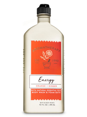 Aromatherapy Energy - Orange & Ginger Body Wash & Foam Bath - Bath And Body Works
