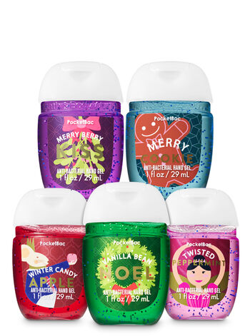 Holiday Favorites PocketBac Hand Sanitizers, 5-Pack - Bath And Body Works