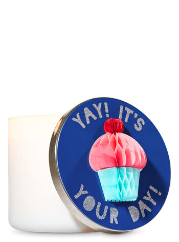 Cupcake 3-Wick Candle Lid Magnet - Bath And Body Works