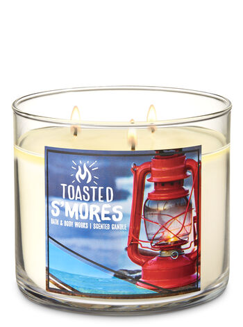 Toasted S'Mores 3-Wick Candle - Bath And Body Works