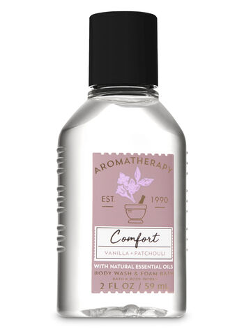 Aromatherapy Comfort - Vanilla & Patchouli Travel Size Body Wash & Foam Bath - Bath And Body Works