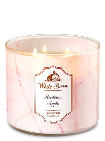 White Barn Heirloom Apple 3-Wick Candle - Bath And Body Works