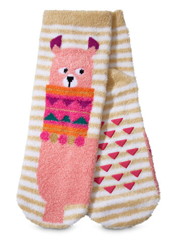 Lydia the Llama Shea-Infused Lounge Socks