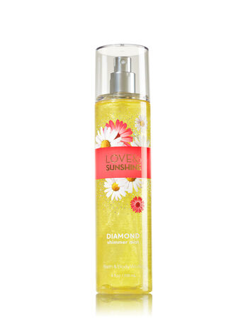 Signature Collection Love & Sunshine Diamond Shimmer Mist - Bath And Body Works