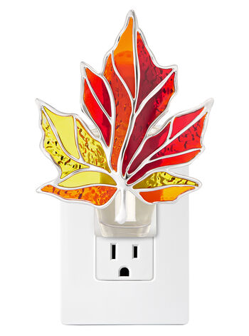 Colorful Stained Glass Leaf Nightlight Wallflowers Fragrance Plug