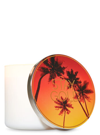 Stay Gold 3-Wick Candle Lid Magnet - Bath And Body Works