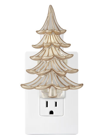 Gold-Trimmed Tree Nightlight Wallflowers Fragrance Plug