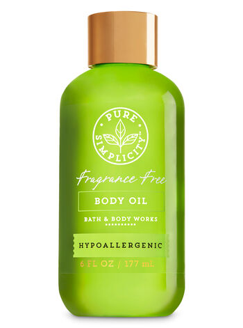 Fragrance Free Body Oil - Bath And Body Works