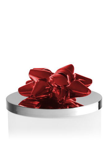 Red Christmas Bow 3-Wick Candle Lid Magnet