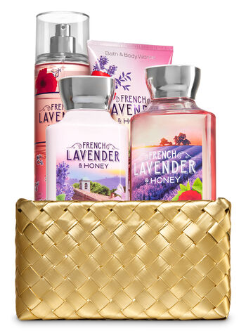 French Lavender & Honey Gold Woven Basket Gift Kit - Bath And Body Works
