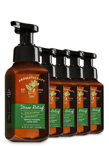 Stress Relief - Eucalyptus & Spearmint 5-Pack Gentle Foaming Hand Soap - Bath And Body Works