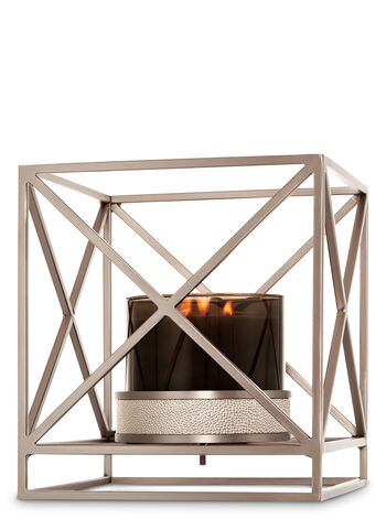 Squared Metal Luminary 3-Wick Candle Sleeve