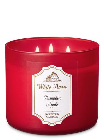 White Barn Pumpkin Apple 3-Wick Candle - Bath And Body Works