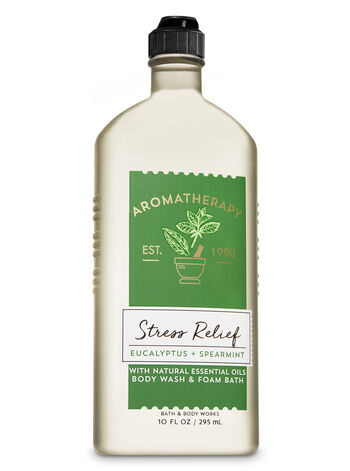 Aromatherapy Stress Relief - Eucalyptus & Spearmint Body Wash & Foam Bath - Bath And Body Works