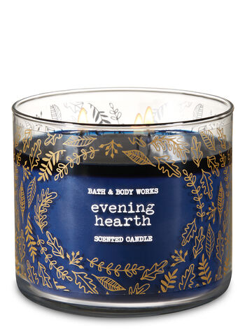 Evening Hearth 3-Wick Candle - Bath And Body Works