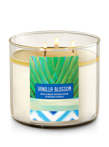 Vanilla Blossom 3-Wick Candle - Bath And Body Works