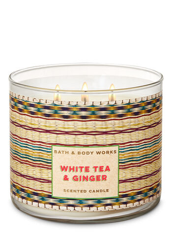 White Tea & Ginger 3-Wick Candle - Bath And Body Works
