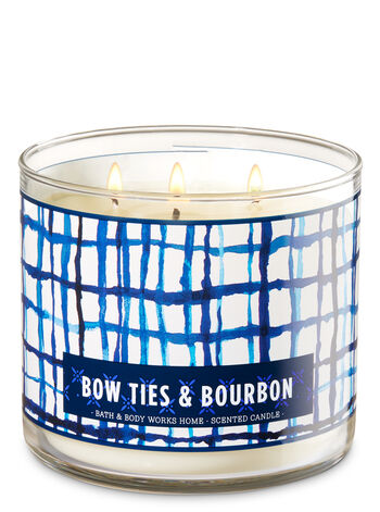 Bow Ties & Bourbon 3-Wick Candle - Bath And Body Works