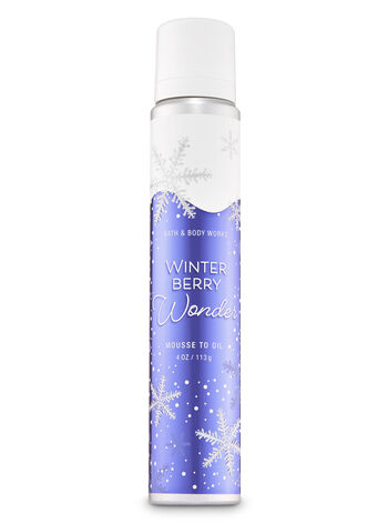 Winter Berry Wonder Mousse to Oil - Bath And Body Works