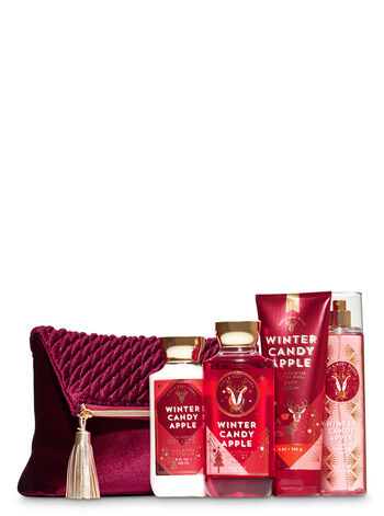 Winter Candy Apple Holiday Traditions Cosmetic Bag Gift Set