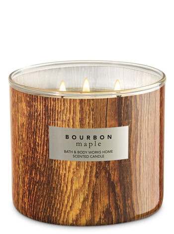 White Barn Bourbon Maple 3-Wick Candle - Bath And Body Works